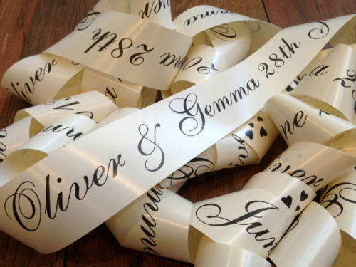 Printed ribbons - your names & date or any other message