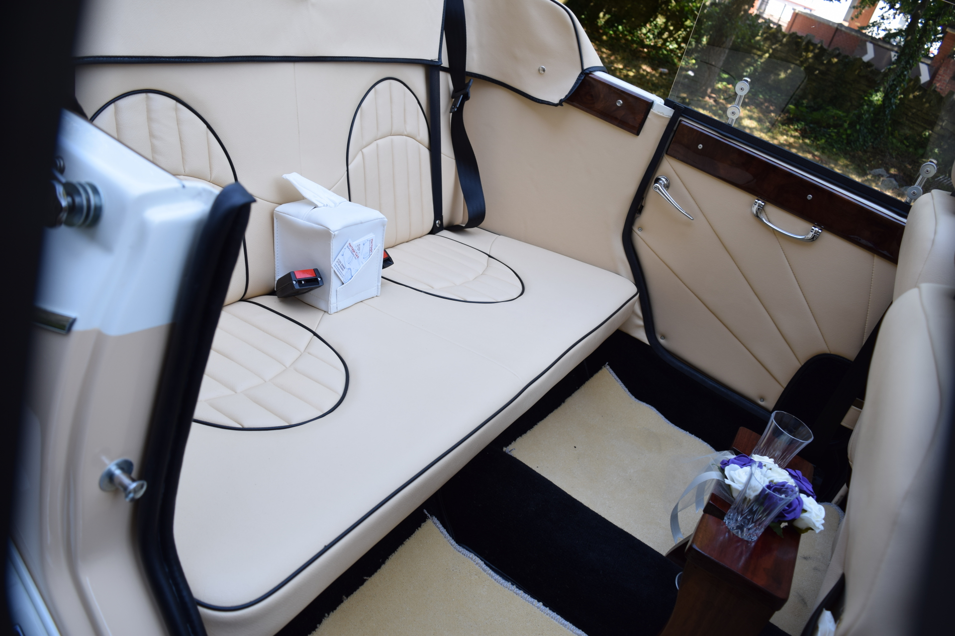 Beauford rear seats with bottle/glasses bar
